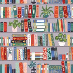Book Shelves in Grey