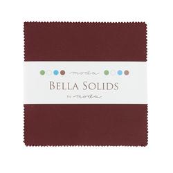 Bella Solids Charm Pack in Burgundy