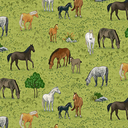 Horses in Green