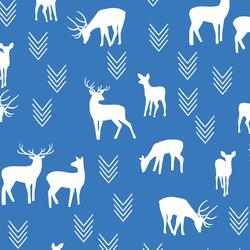 Deer Silhouette in Cerulean