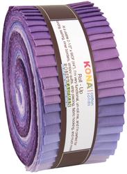 """Kona Solid 2.5"""" Strip Roll in Lavender Fields"""