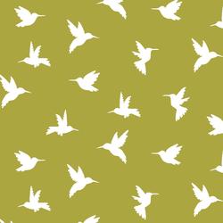Hummingbird Silhouette in Zest