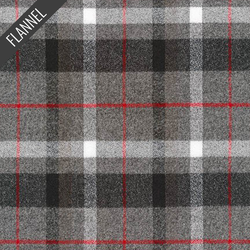 Mammoth Windowpane Plaid Flannel in Smoke