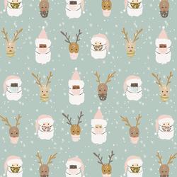 Small Deer Santa in Multi