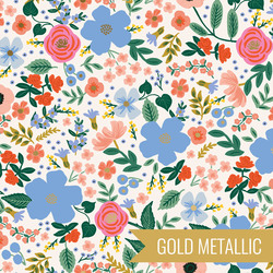 Wild Rose in Cream Metallic