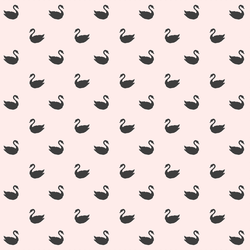 Small Swan Silhouettes in Onyx on Soft Blush