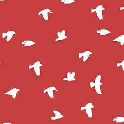 Flock Silhouette in Geranium