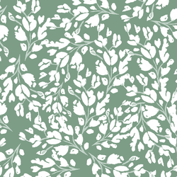 Large Frost Floral in Spearmint Green