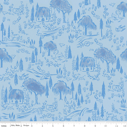 Woodland in Blue