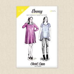 Ebony T-shirt and Knit Dress