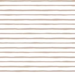 Artisan Stripe in Sand on White