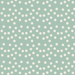Big Scalloped Polka Dots in Sweet Mint