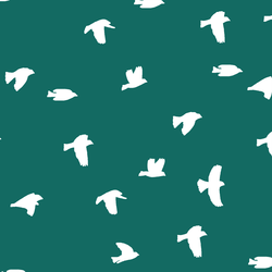 Flock Silhouette in Emerald