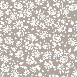 Daisies in Taupe
