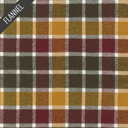 Mammoth Small Windowpane Plaid Flannel in Cider
