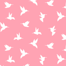 Hummingbird Silhouette in Rose Pink