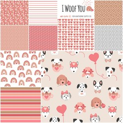 I Woof You Fat Quarter Bundle Little Scale
