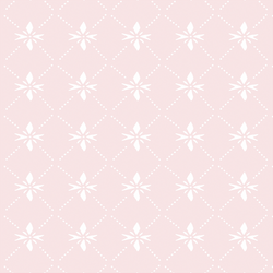 Quilted Snowflake in Ice Blush