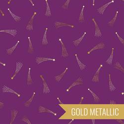 Shooting Stars in Plum Metallic
