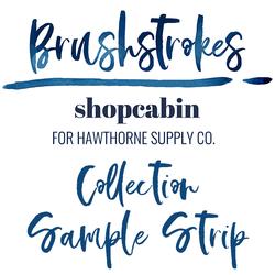 Brushstrokes Sample Strip