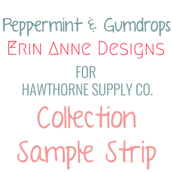Peppermint and Gumdrops Sample Strip