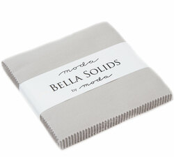 Bella Solids Charm Pack in Grey