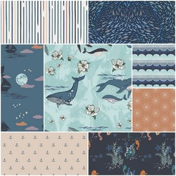 Enchanted Voyage Fat Quarter Bundle in North Waters