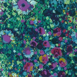 Floral Meadow in Navy