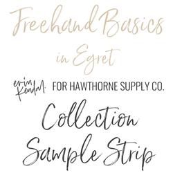 Freehand Basics Sample Strip in Egret