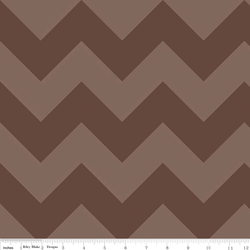 Large Chevron Tone on Tone in Brown