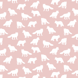 Little Fox Silhouette in Blush