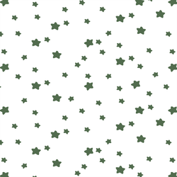 Star Light in Kale on White