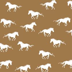 Horse Silhouette in Ochre