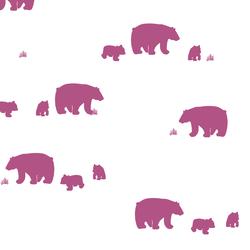 Bear Silhouette in Azalea