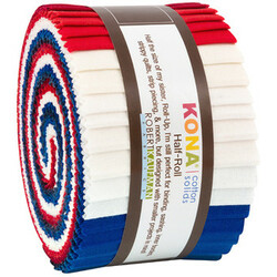 "Kona Solid 2.5"" Strip Junior Roll in Patriotic"