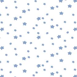 Star Light in Cornflower on White