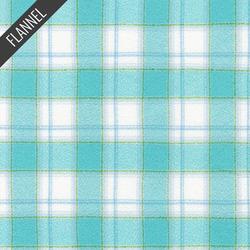Mammoth Junior Modern Check Plaid Flannel in Aqua