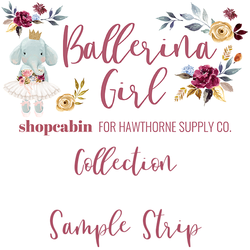 Ballerina Girl Sample Strip
