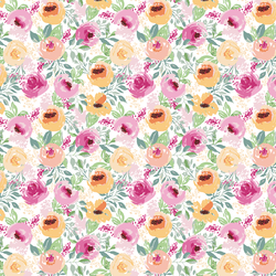 Small Berry Floral in White