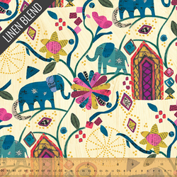 Garden of Dreams Linen Cotton in Old Paper
