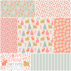 Hoppy Spring Fat Quarter Bundle in Bright