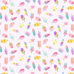 Popsicles in Cotton Candy