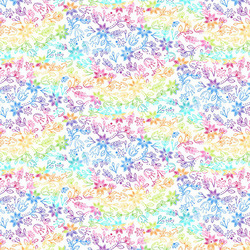Rainbow Meadow in White