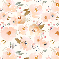 Blossoming Floral in Peachy