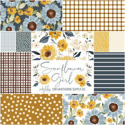 Sunflower Girl Fat Quarter Bundle in Sunflower Field