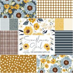 Sunflower Girl Fat Quarter Bundle
