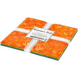 """Artisan Batiks 10"""" Squares in Summer Zest"""