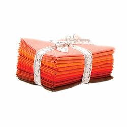 Bella Solids Fat Quarter Bundle in Orange