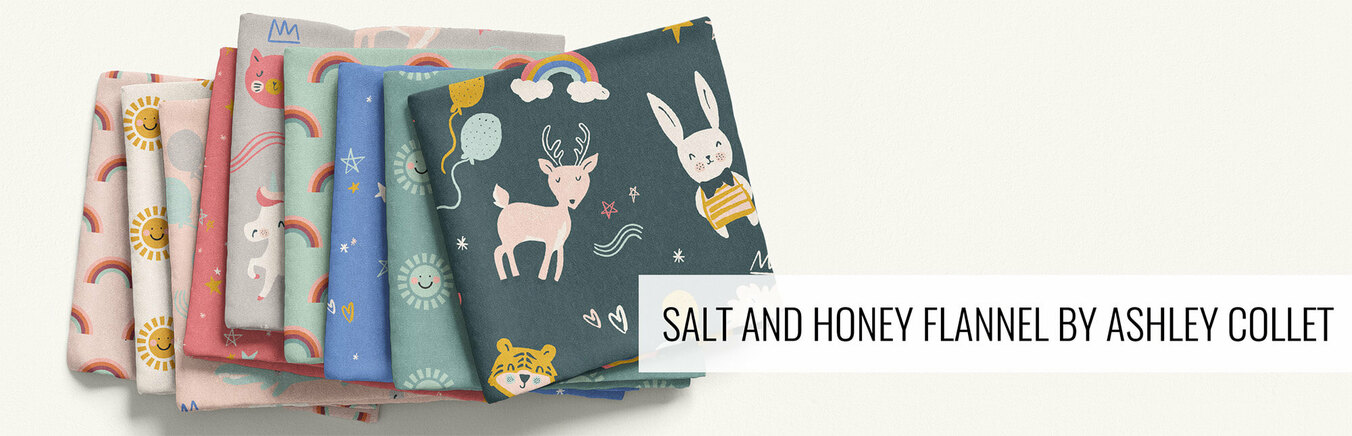Salt and Honey Flannel by Ashley Collet