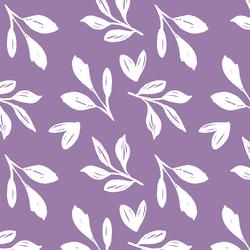 Garden Foliage in Amethyst Purple